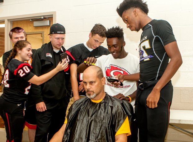 Chopticon (Md.) has already shown it will go to great lengths to raise money to fight childhood cancer. Head coach Anthony Lisanti shaved his head in 2017 to show solidarity with children undergoing chemotherapy.