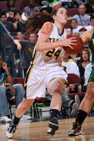 Oak Ridge senior Sara James led charge on Saturday.