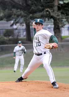 Dylan Davis stars as a pitcher butis also proficient with the batand in the field.