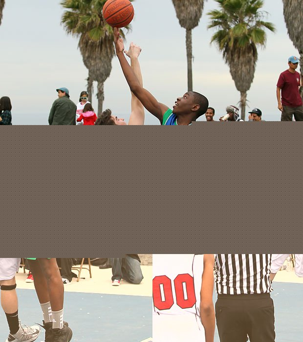 Oakwood and Pacifica Christian faced off Saturday in an unusual setting for high school basketball - outdoors. The contest was played at the famous Venice Beach courts in Southern California. Pacifica Christian claimed a 50-41 victory.