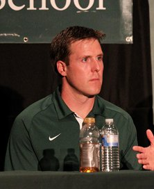 Justin Alumbaugh, new head coach  at De La Salle