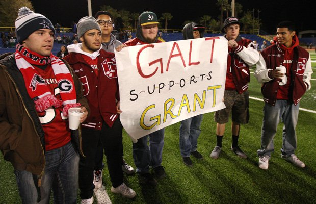 Galt was one of several communities and high schools in the region that turned out in support of the Grant football team.