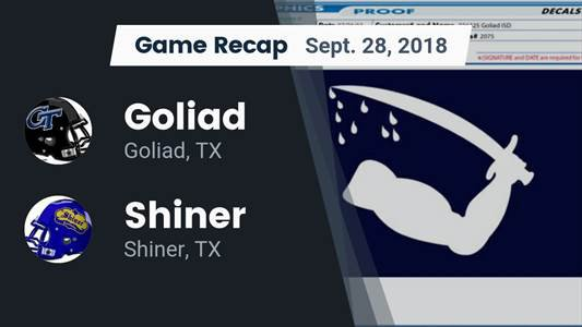 Football Game Preview: Shiner vs. Weimar