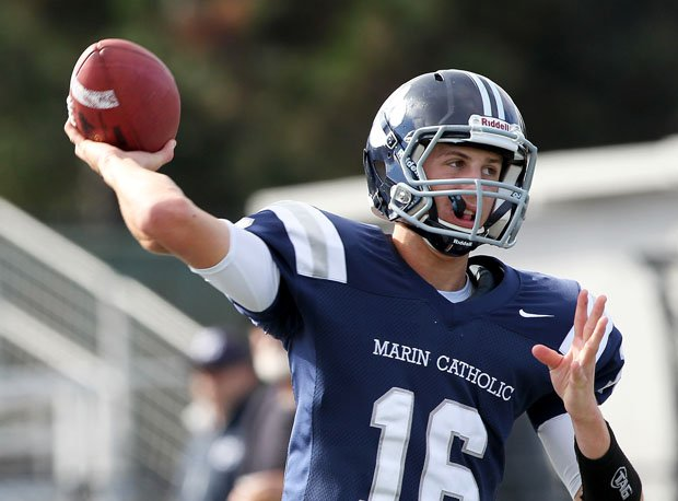 Jared Goff threw for 3,692 yards and 40 touchdowns his senior year at Marin Catholic.