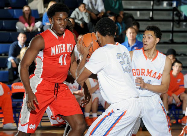 Tournament MVP Stanley Johnson (left) and Mater Dei knocked off host Bishop Gorman in the final of last season's Tarkanian Classic in Las Vegas.