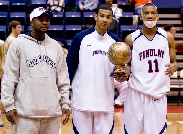 Cory Joseph (middle) and a battered Avery Bradley (right) helped lead Findlay Prep to the No. 1 ranking back in 2009.