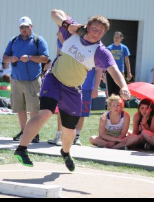 Daniel Weirich's shot put of 58 feet, 9.25 inches is the top mark in the state and broke the Eads school record.