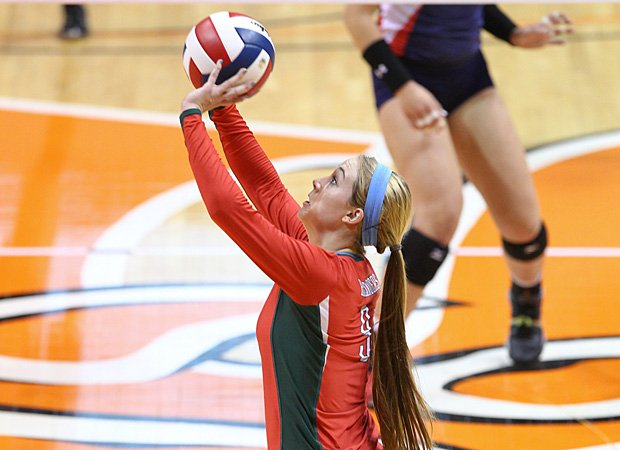 Courtney Eckenrode of The Woodlands is the 2013 Volleyball Player of the Year, leading the list of MaxPreps All-Americans.
