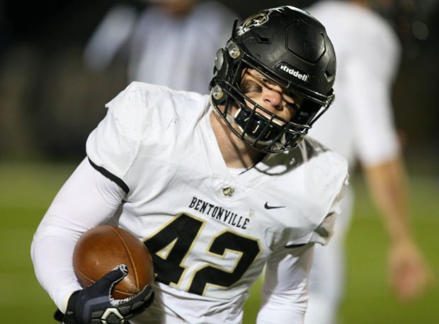 Bentonville's Cole Royce is likely the fastest linebacker in the state.