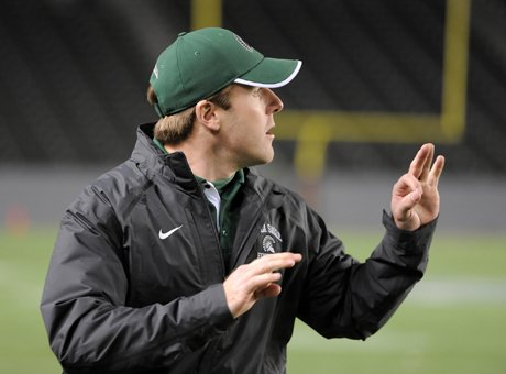 Everything is more than A-OK for new De La Salle head football coach Justin Alumbaugh, who replaced legendary Bob Ladouceur in January. Alumbaugh inherits a talented squad, especially on offense, and with the coaching staff all in place, including Ladouceur himself, all is smooth sailing. But then again, it's only May.
