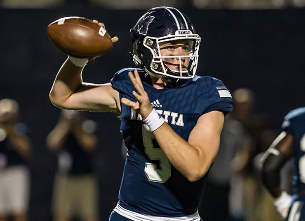 Tennessee pledge Harrison Bailey threw for 263 yards and a pair of scores in a big win Friday for Marietta.