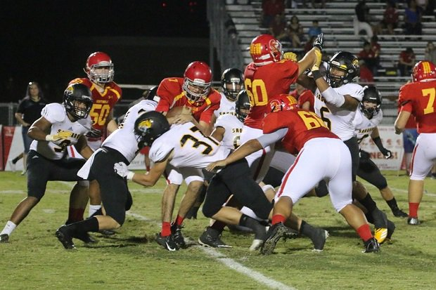 McCade Siegel (No. 37) is a backup middle linebacker at Saguaro who also plays baseball. The junior has also started a non-profit organization that donates sports gear to low-income kids so they can participate in youth sports.