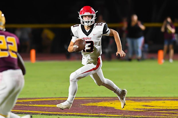 Elijah Warner is off to a good start to the season as a quarterback at Brophy College Prep in Arizona.