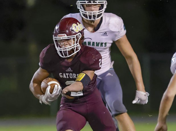 Kayleb Wagner needed 25 carries to rush for a state-record 535 yards and six touchdowns Sept. 17 against South Walton.