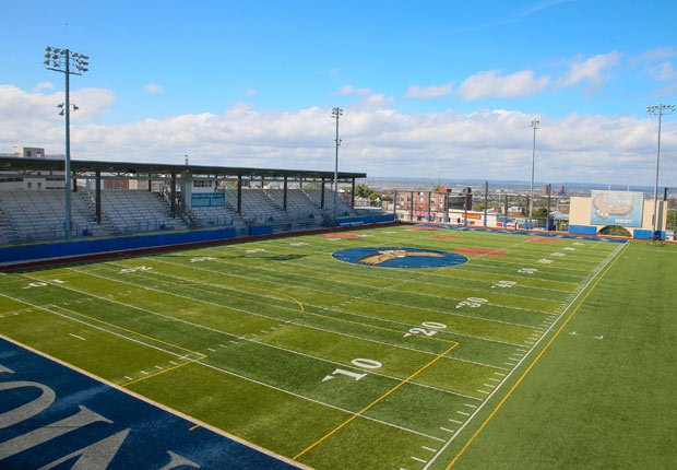 Roosevelt Stadium sits atop a roof in the nation's most densely populated county.