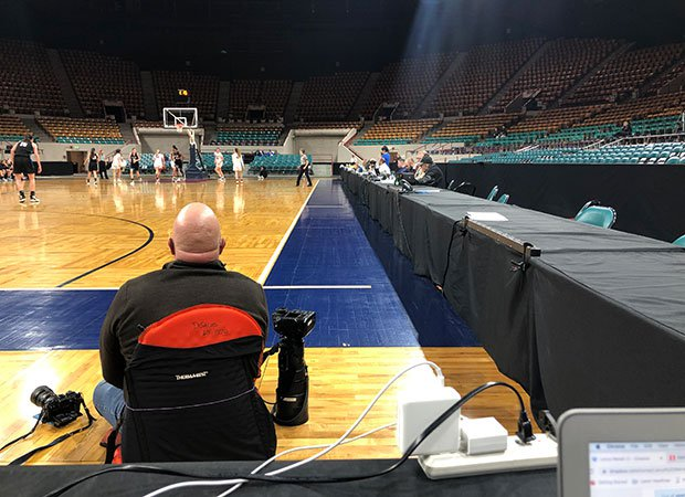 No fans were permitted to attend Thursday's CHSAA Class 5A girls semifinal basketball game at the Denver Coliseum.