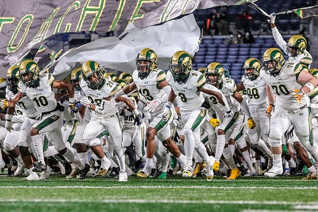 Grayson takes the field for the 2020 AAAAAAA state championship game.