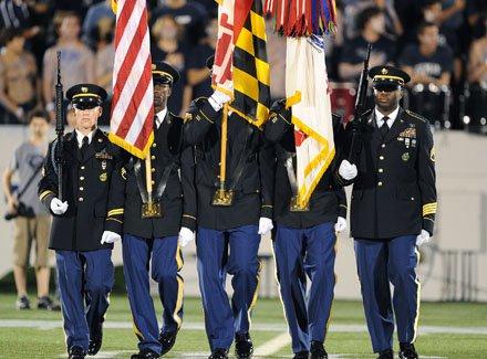 The honor guard at Saturday's Patriot Classic in Annapolis.