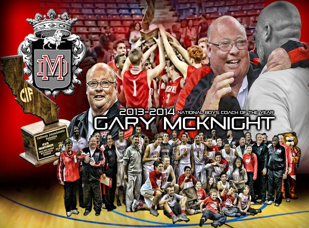 Mater Dei's Gary McKnight outdid himself with a perfect record in 2013-14. He's our National Boys Coach of the Year.