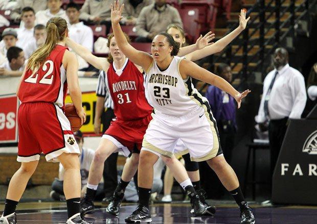 Elise Gordon (23) was the San Jose Mercury Player of the Year her senior season at Mitty in 2009-10.