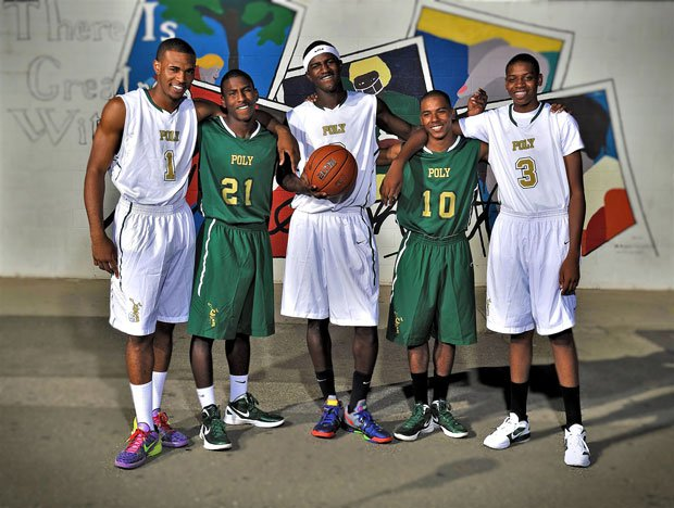 After going 60-5 over the past two seasons with a section title in 2011, (from left to right) Roschon Prince, Brandon Staton, Jordan Bell, Ke'Jhan Feagin and Kameron Chatman hope to lead Long Beach Poly to a state title.