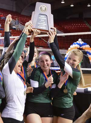 Cardinal Gibbons won the NCHSAA 3A volleyball title.