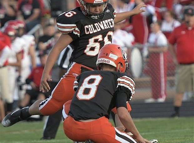 Coldwater senior Blake Dippold drilled 6-of-8 field goals and 42-of-47 extra points last year.