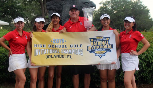 The California team celebrates its team championship with a playoff victory over South Carolina.