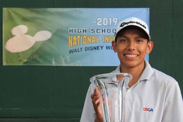 Aidan Thomas won the boys medalist in the inaugural National Invitational at the Walt Disney World Resort on Friday.