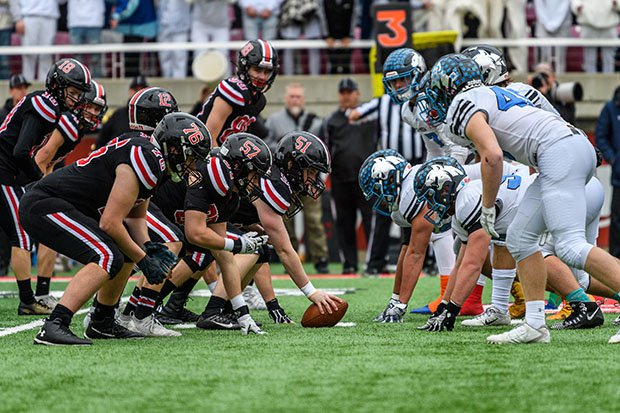 Park View and Sky View doing battle in last season's Class 4A state championship game.