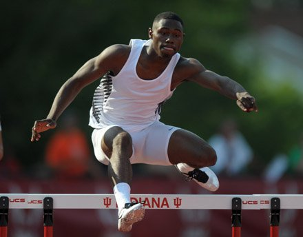 Eric Futch of Penn Wood broke his own national-leading mark while winning the 400 hurdles in Saturday's USA Junior Track & Field Championships at Indiana University.