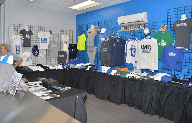 The school's campus shop sells IMG apparel.