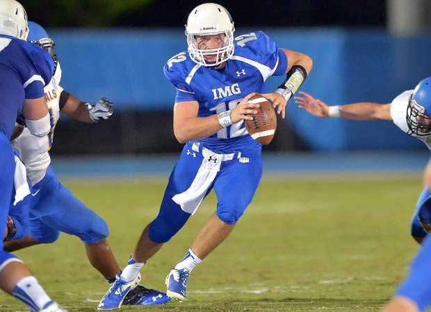 Michael O'Connor, IMG's quarterback, is committed to Penn State.