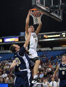 Aaron Gordon with one of his  four dunks.