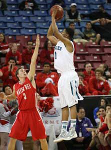 Sheldon's Kyi Thomas drilled three  3-pointers before fouling out.