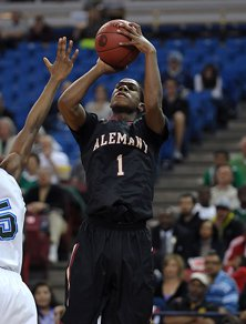 Nevada-bound Marqueze Coleman was brilliant with 27 points and nine rebounds for Alemany.