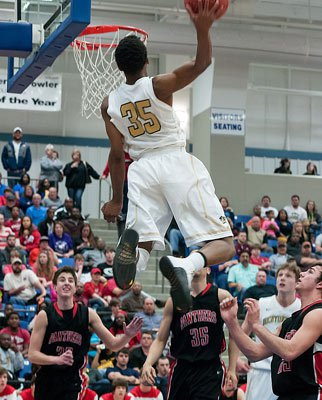 "Malik was deemed the ""God of Dunk"" after this giant ally-oop dunk during last Friday's quarterfinal playoff victory over Cabot."