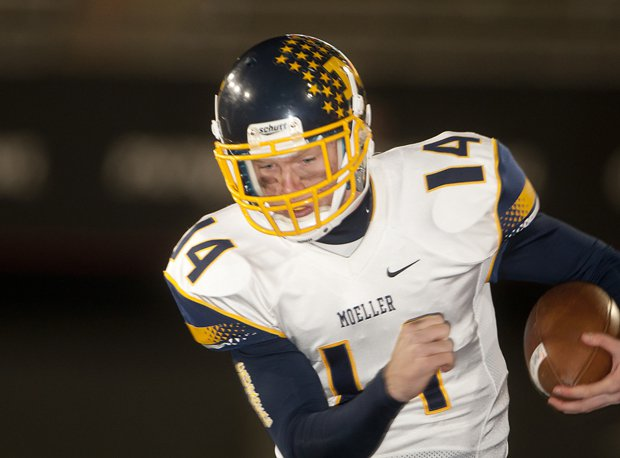 Gus Ragland completed a 43-yard touchdown pass with 11 seconds remaining to give second-ranked Archbishop Moeller a thrilling 37-33 win over then-No. 8 Pike last week. Moeller plays at Covington Catholic (Park Hills, Ky.) on Saturday.