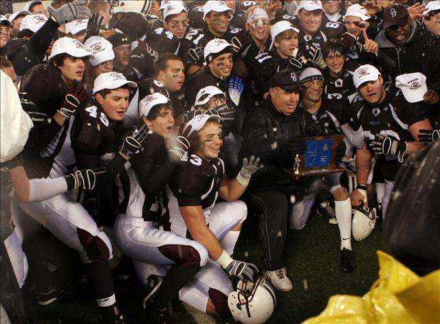 Don Bosco Prep (Ramsey, N.J.) celebrates after winning its fourth straight non-public Group IV state title.
