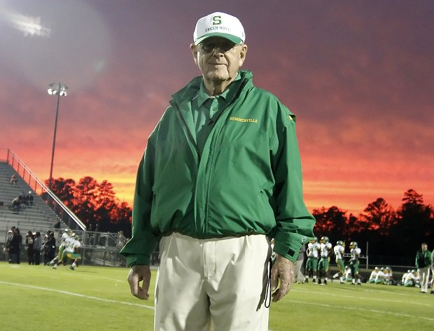 Legendary coach John McKissick won 620 games with 10 state championships in his 63 years with Summerville.