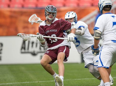 Cheyenne Mountain senior Wiley Burkett (maroon jersey) has led the charge offensively this season. His 31 goals are ranked second in the state and are prime reason the Indians are contenders in Class 4A.