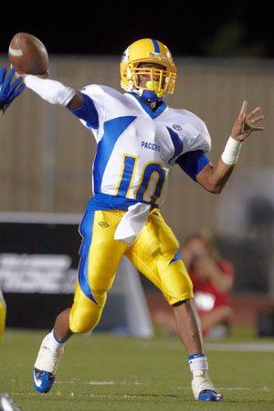 Quarterback Terry Shine sparkled in his varsity debut.