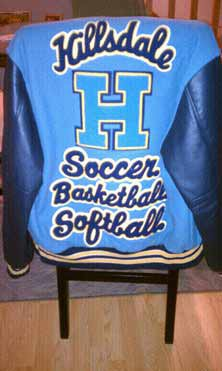 Kelsey Dropsey's letterman's jacketdoesn't have room for much more.