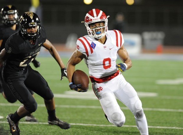 Mater Dei receiver Amon-Ra St. Brown had 8 catches for 238 yards and two touchdowns, and added a 51-yard punt return for a touchdown in the Monarchs' 31-21 win over St. John Bosco last season.