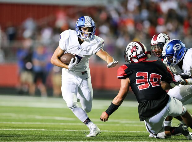 Bishop Gorman's Biaggio Ali Walsh rushed for 186 yards and three touchdowns in his team's 30-point win at Cedar Hill.