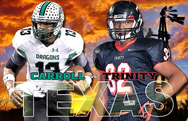 Southlake (Carroll) and Trinity (Euless) are two football titans located within about 10 miles of each other but they don't battle often. This week it's a rare Southlake-Trinity tussle that leads the Top 10 Games of the Week.