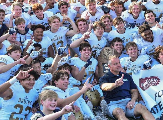 Pulaski Academy celebrates its football championship.