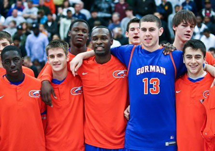 National Player of the Year candidate Shabazz Muhammad (center) and his Bishop Gorman teammates will look to become the first ranked team to win a state title this season.
