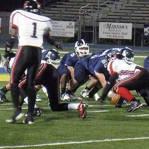 Scott Meeker threw two touchdowns.