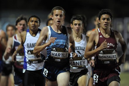 Nick Hartle won the Nevada state 800-meter title in 1:49.91 last season but will be pushed much harder Saturday night at the 45th annual Arcadia Invitational.